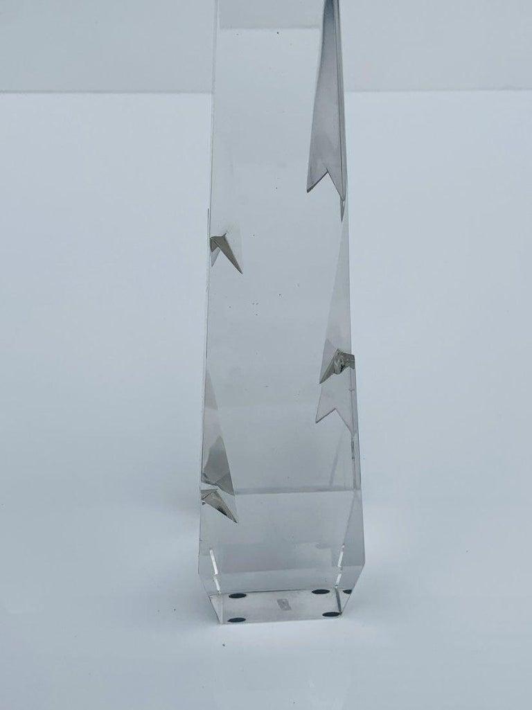 Stunning Crystal Obelisk For Sale 6
