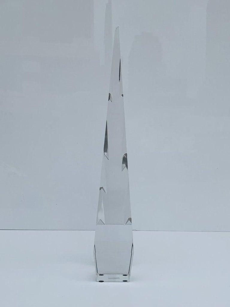 Modern Stunning Crystal Obelisk For Sale