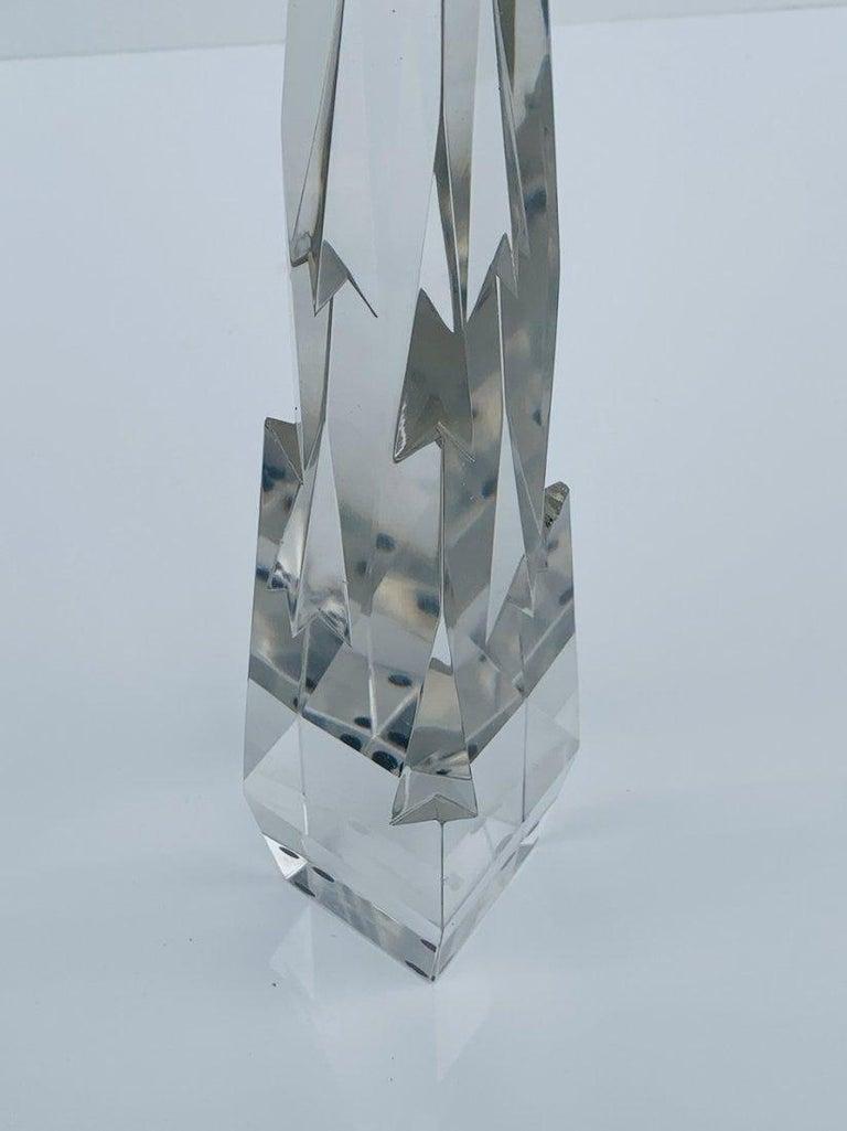 American Stunning Crystal Obelisk For Sale