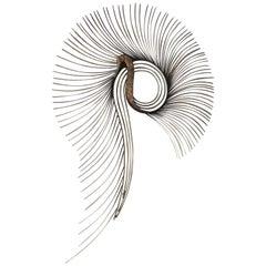 Stunning Curtis Jere Signed Brass Peacock Starburst Mid-Century Modern