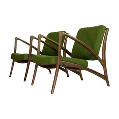 Stunning Curved Sculptural Lounge Chairs Floating Dutch Design