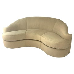 Stunning Curved Sculptural Swaim Sofa Settee in the Manner of Vladimir Kagan