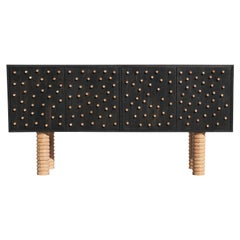 Stunning Custom Brutalist Postmodern Sideboard / Cabinet