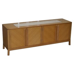 Stunning David Linley Newlyn Sycamore Wood and Marble Sideboard Suite
