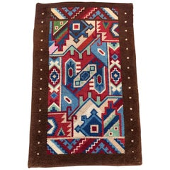 Stunning Design Midcentury Modern Carpet Rug, Hand Knotted and with Great Colors