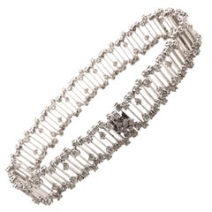 Stunning Diamond Bracelet Set in 18 Karat White Gold