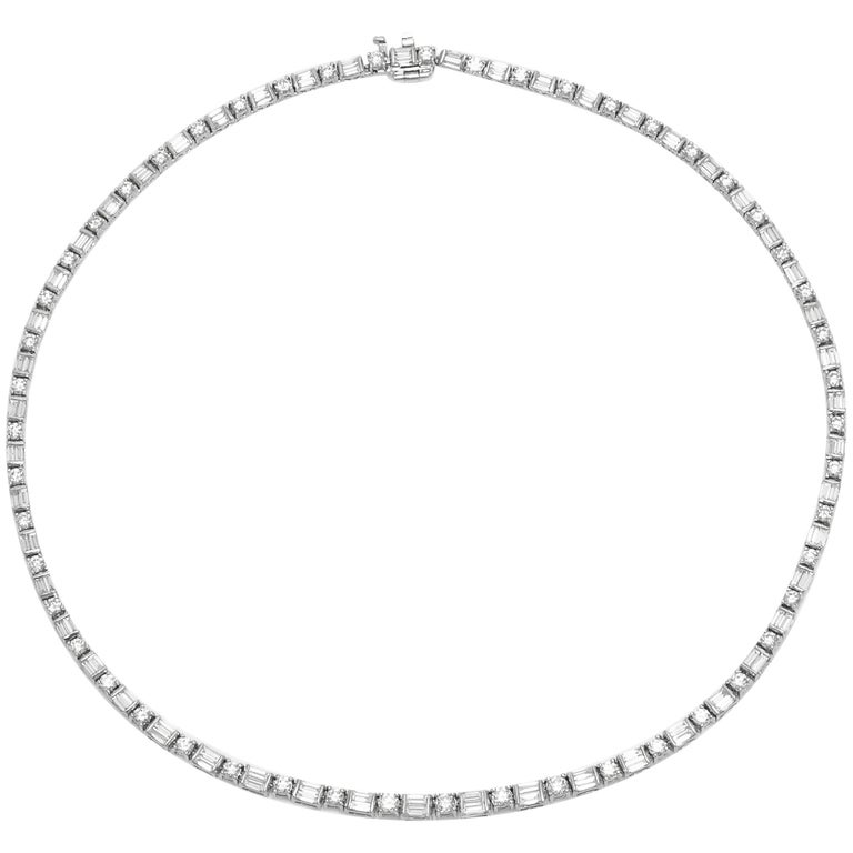 Stunning Diamonds Necklace For Sale