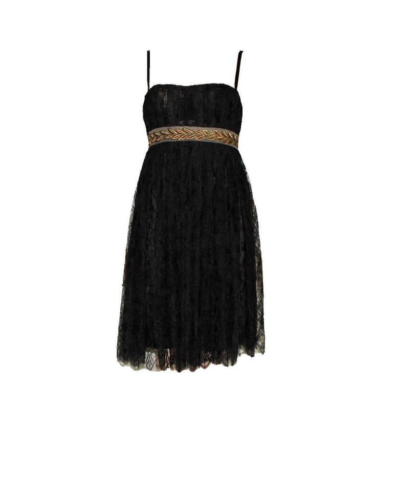GORGEOUS DOLCE & GABBANA SILK & LACE DRESS  ONE OF THE MOST BEAUTIFUL PIECES BY DOLCE & GABBANA       A DOLCE & GABBANA timeless classic signature piece that will last you for years     Main line DOLCE & GABBANA     Made out of the finest black