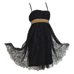 Stunning Dolce & Gabbana Black French Lace Laurel Dress