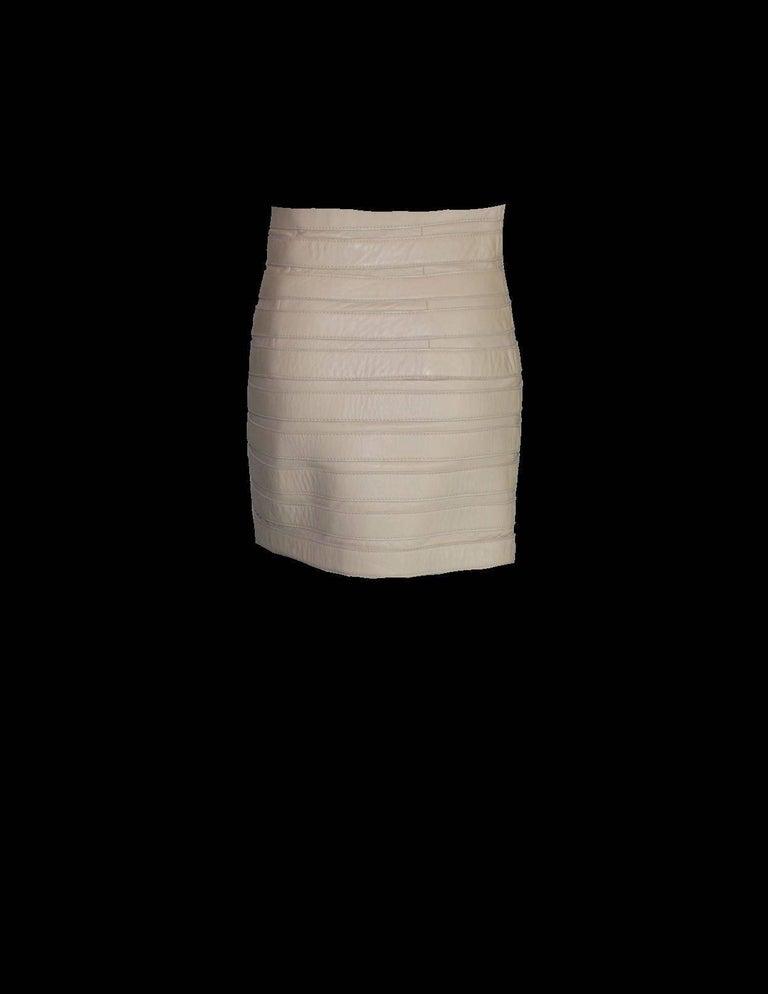 Stunning Dolce & Gabbana Bondage Buckle Leather Jacket Skirt Suit Ensemble For Sale 3