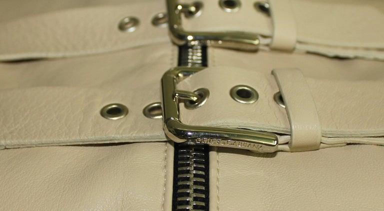 Stunning Dolce & Gabbana Bondage Buckle Leather Jacket Skirt Suit Ensemble For Sale 4