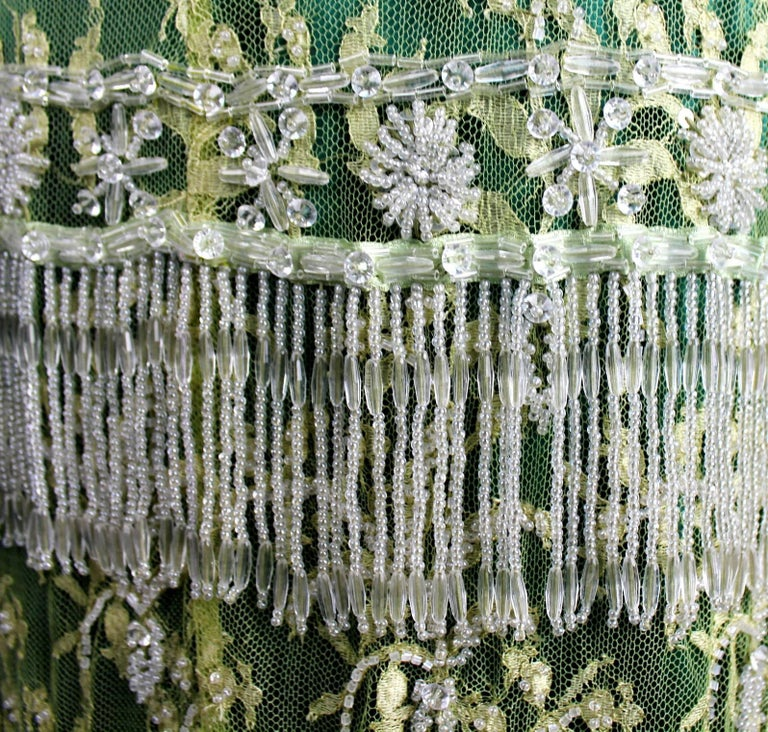 Stunning Dolce & Gabbana Demi-Couture Hand-Embroidered Lace Fringe Evening Skirt In New Condition For Sale In Switzerland, CH