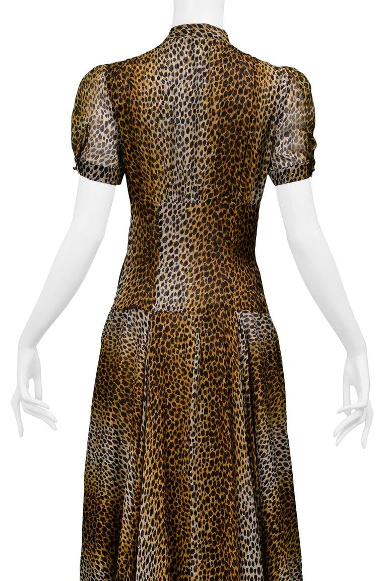 Women's Stunning Dolce & Gabbana D&G Leopard Print Silk Evening Gown For Sale