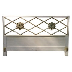 Stunning Dorothy Draper Style Lattice Kingsize Headboard Regency Modern