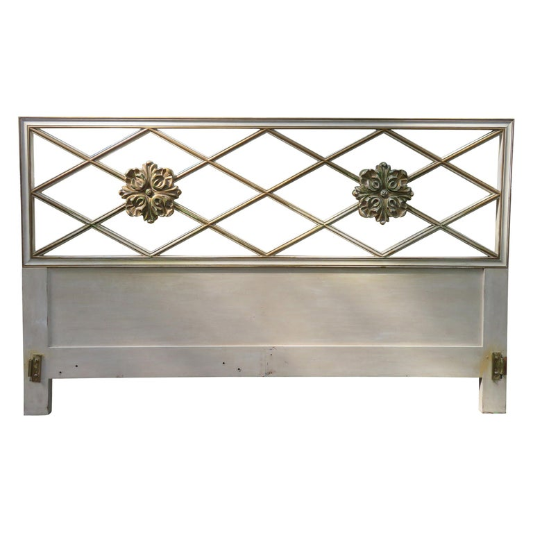 Stunning Dorothy Draper Style Lattice Kingsize Headboard Regency Modern For Sale