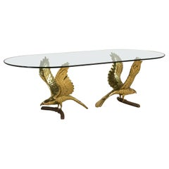 Stunning Eagle Based Dining Table by Chervet Signed, 1970s
