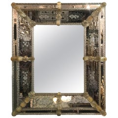 Stunning Early 20th Century Murano Venetian Mirror