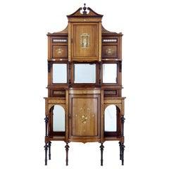 Stunning Edwardian Inlaid Palisander Dresser Cabinet