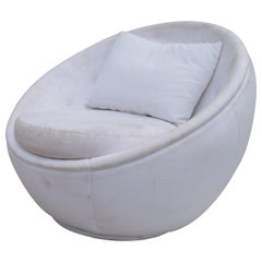 "Stunning ""Egg"" Swivel Chair by Milo Baughman for Thayer Coggin"