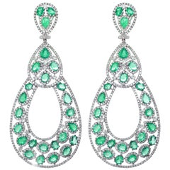 Stunning Emerald and Diamond Earrings by Diana M.