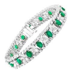 Antique Emerald Bracelets - 767 For Sale at 1stdibs