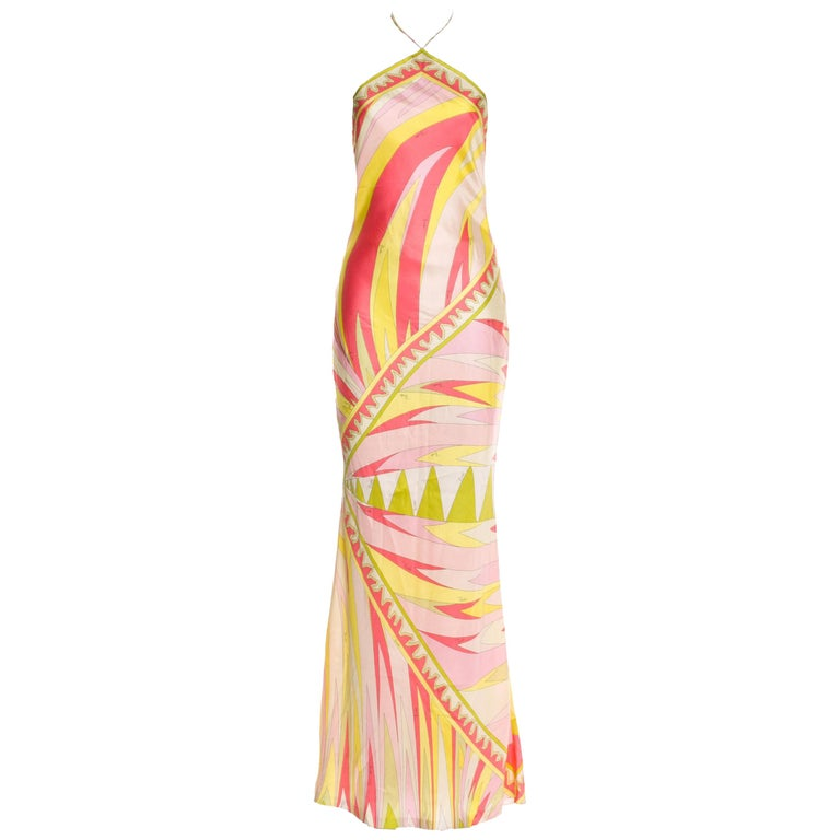 Emilio Pucci signature-print evening gown, 21st century, offered by Couture Fairy Boutique
