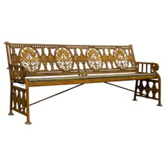 Stunning English Coalbrookdale Cast Garden Bench