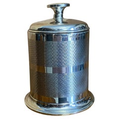 Stunning English Solid Sterling Silver 1936 Art Deco Style Cigarette Dispenser