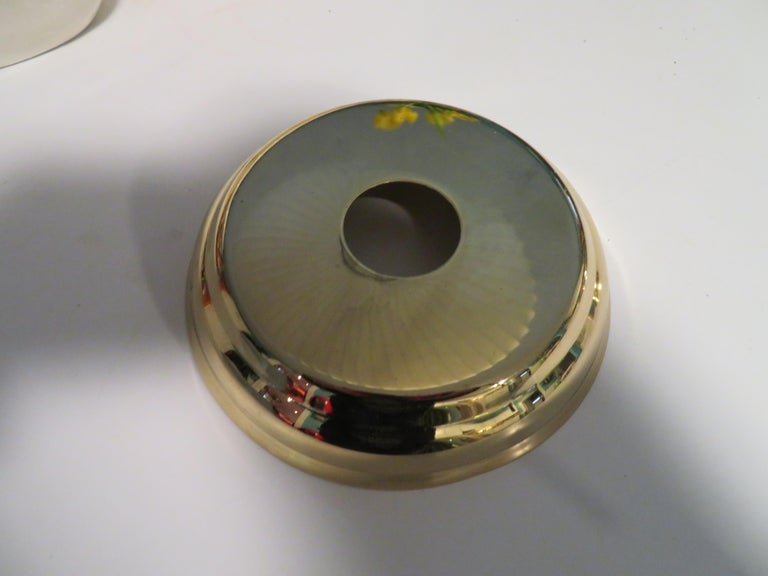 Stunning Etched Brass Feldman Lotus Pendant Light Chandelier Mid-Century Modern For Sale 4
