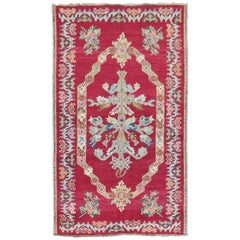 Stunning Floral Antique Turkish Ghiordes Rug