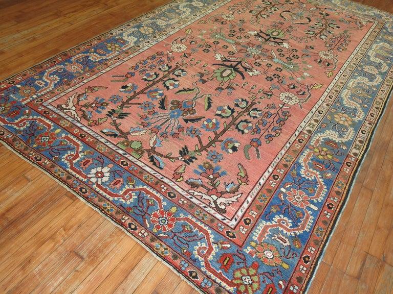 Bakshaish Stunning Floral Motif Persian Malayer Carpet, 20th Century For Sale