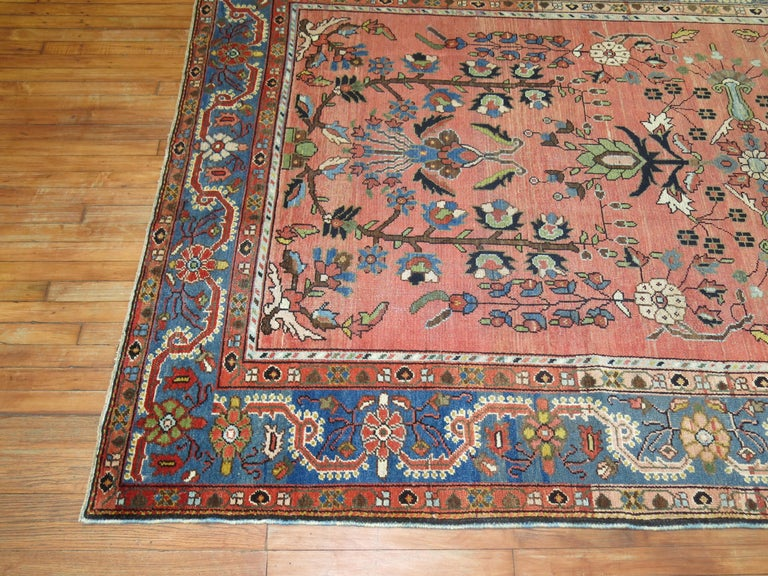 Hand-Woven Stunning Floral Motif Persian Malayer Carpet, 20th Century For Sale