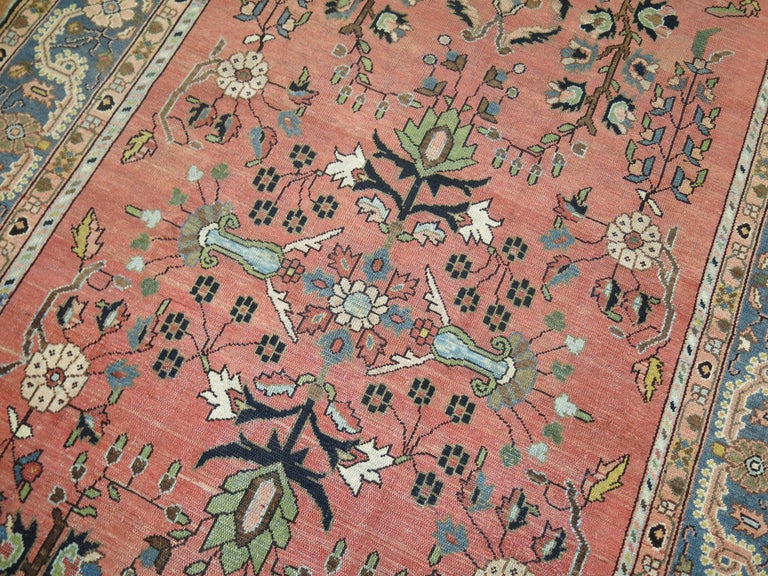 Early 20th Century Stunning Floral Motif Persian Malayer Carpet, 20th Century For Sale