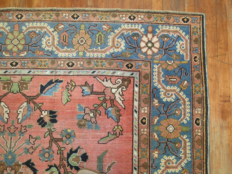 Wool Stunning Floral Motif Persian Malayer Carpet, 20th Century For Sale