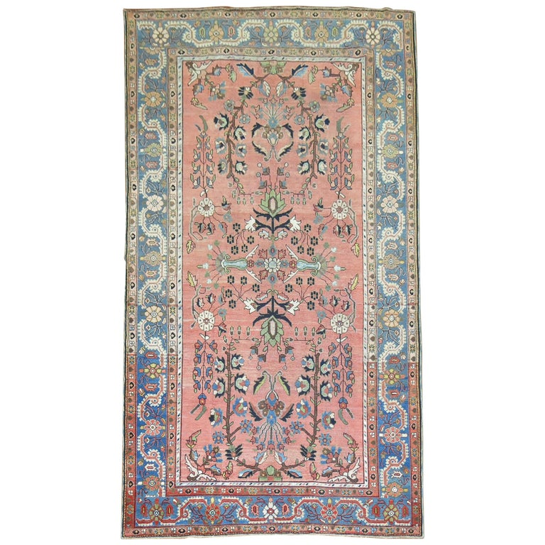 Stunning Floral Motif Persian Malayer Carpet, 20th Century For Sale
