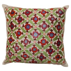 Stunning Floral Suzani Embroidery Textile Pillow