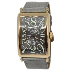 Stunning Franck Muller 18K Gold Long Island Crazy Hours Automatic Wristwatch