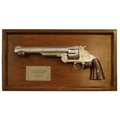 STUNNING FRANKLIN MINT WYATT EARP .44 REPLiCA REVOLVER USED AT THE O.K CORRAL