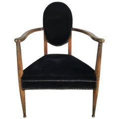 Stunning French Art Deco Arm, Lounge Chair