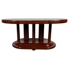 Stunning French Art Deco Coffee / Cocktail Table by Jules Leleu, Signed 1930s