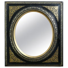 Stunning French Empire Gilt and Lacquer Wall Mirror