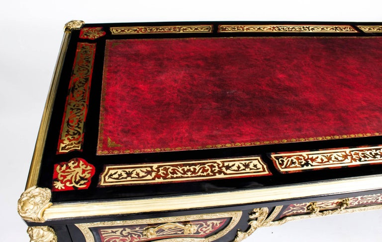 Louis XV Stunning French Louis Revival Brass Inlaid