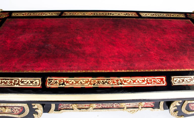 Stunning French Louis Revival Brass Inlaid