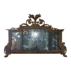 Stunning George II Mirror or Overmantel Mirror, circa 1750