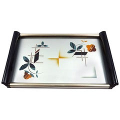 Stunning German Art Deco Spritzdekor Cocktail Tray in Bauhaus Design