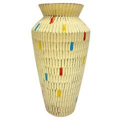 Stunning German Midcentury Pottery Ceramic Vase 1950s Mid-Century Modern