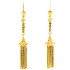 Stunning Gold Victorian Tassel Earrings