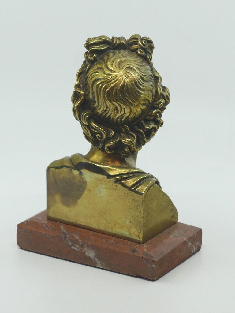 Italian Stunning Grand Tour Neoclassical Bust of Apollo For Sale