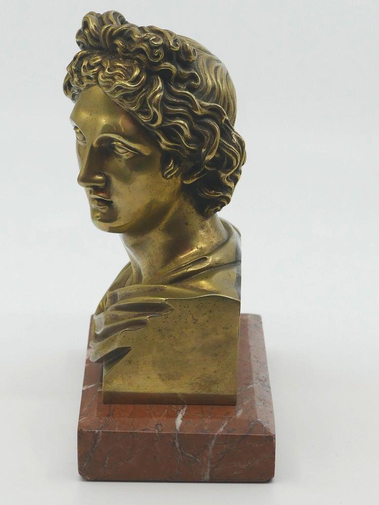 Stunning Grand Tour Neoclassical Bust of Apollo In Good Condition For Sale In Kilmarnock, VA