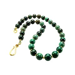 Gemjunky Stunning Green Congolese Chrysocolla Necklace
